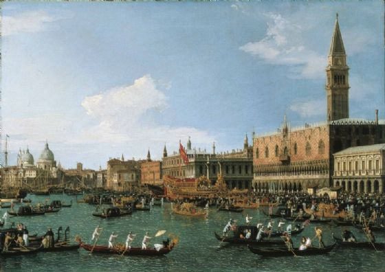 Canaletto: Return of 'Il Bucintoro' on Ascension Day. Fine Art Print/Poster. Sizes: A4/A3/A2/A1 (003326)